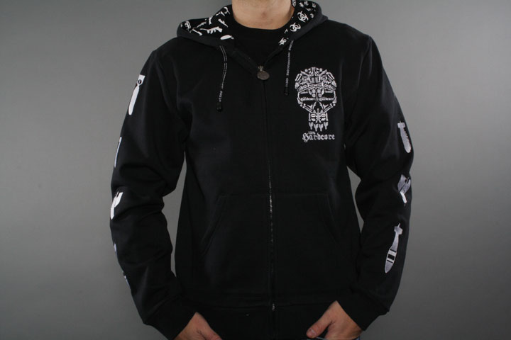 Skull Mozaik Hooded Zip