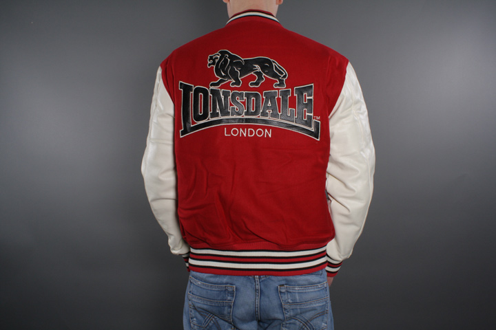 Lonsdale - Baseball Jacka Oxford Red