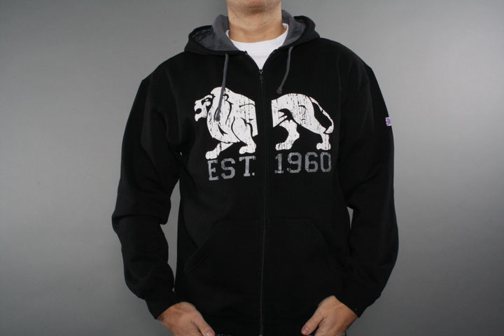 Lion Est Hooded Zipper Black