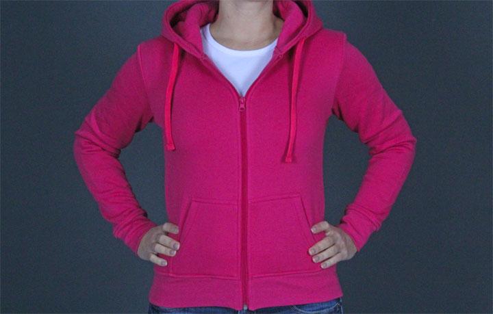 Zip Hoody TB079 Pink