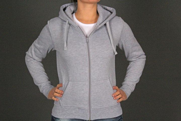 Zip Hoody TB079 Grey