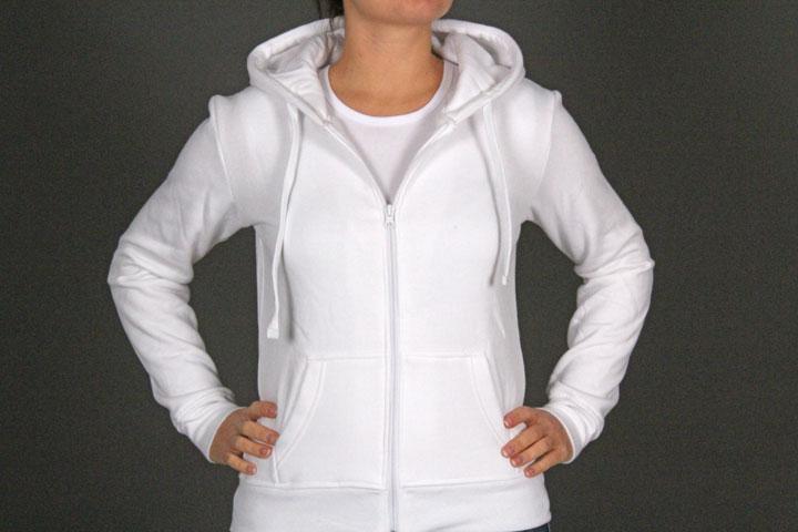 Zip Hoody TB079 White